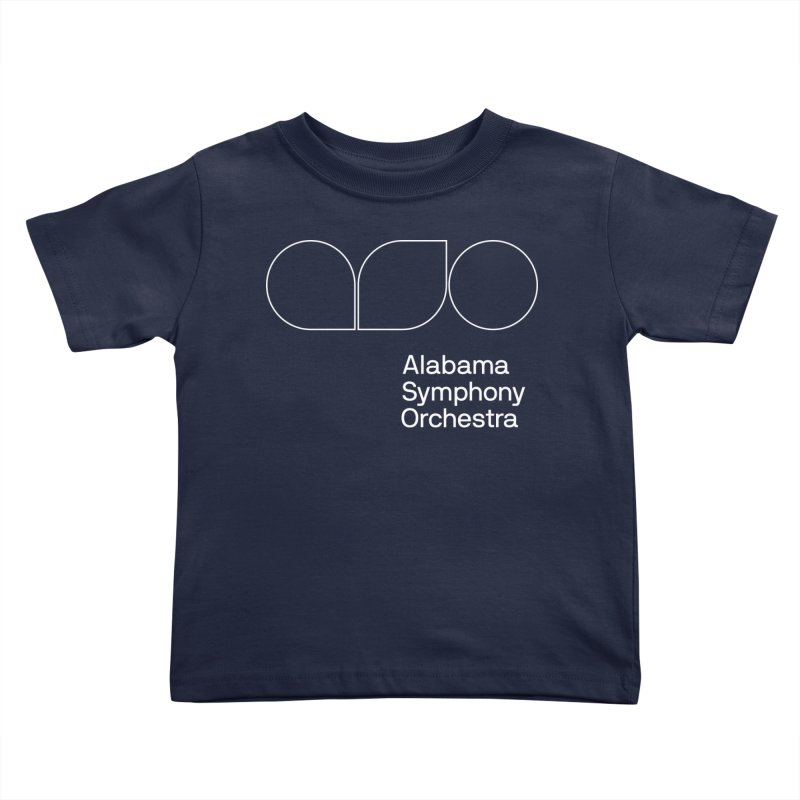 White Outline Kids Toddler T-Shirt by Alabama Symphony Orchestra Goods & Apparel