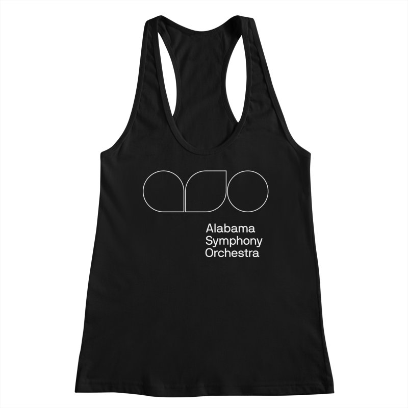 White Outline Women's Racerback Tank by Alabama Symphony Orchestra Goods & Apparel