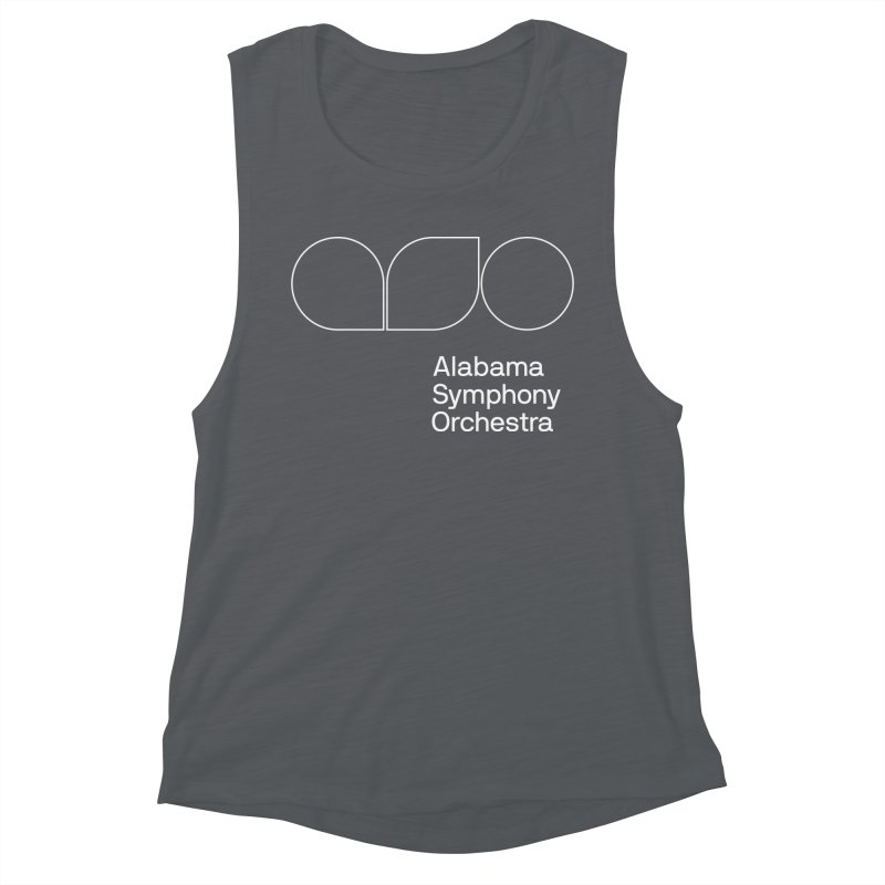 White Outline Women's Muscle Tank by Alabama Symphony Orchestra Goods & Apparel
