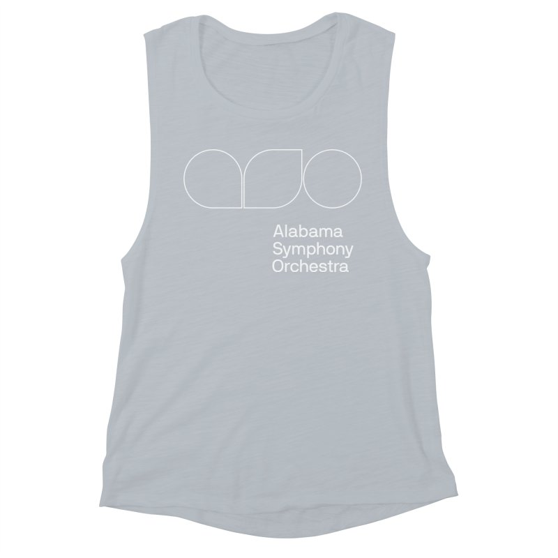 White Outline Women's Tank by Alabama Symphony Orchestra Goods & Apparel