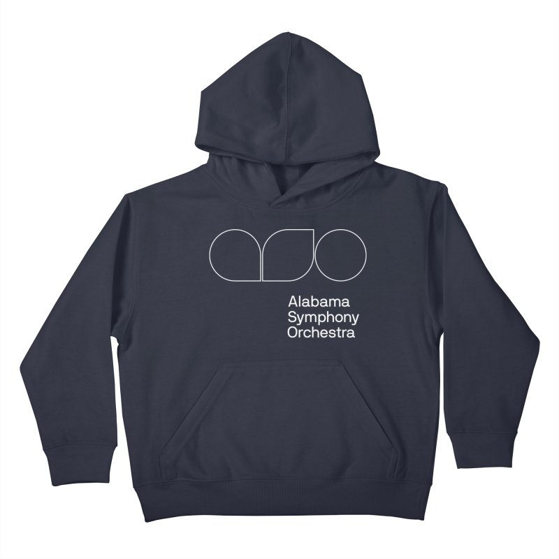White Outline Kids Pullover Hoody by Alabama Symphony Orchestra Goods & Apparel
