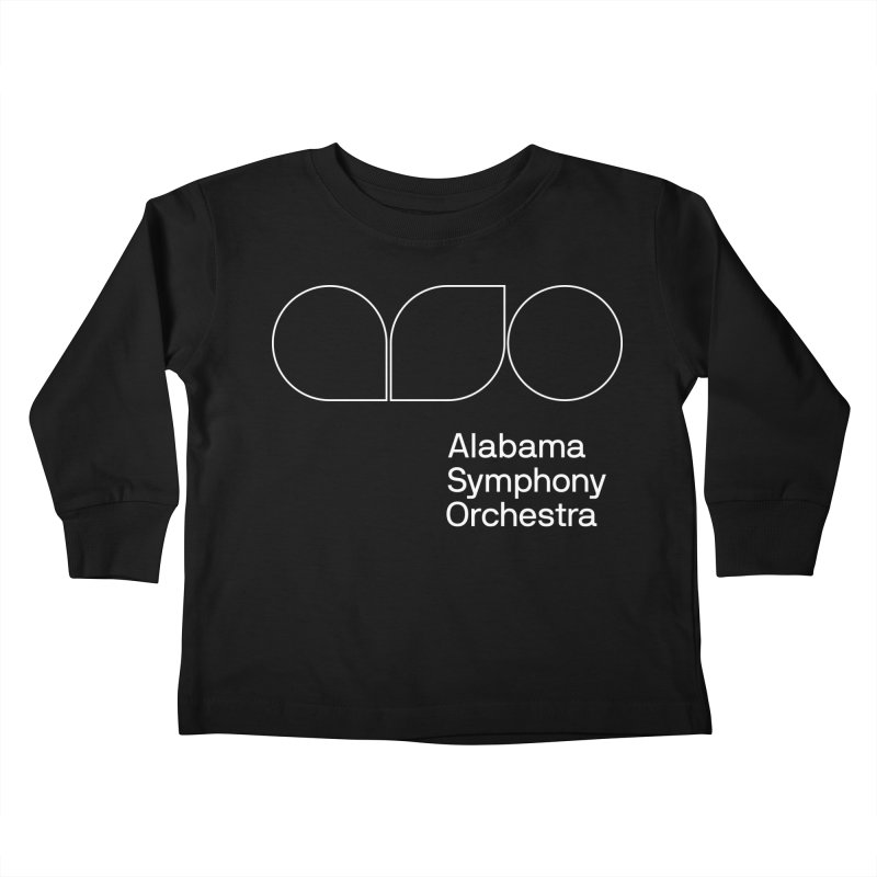 White Outline Kids Toddler Longsleeve T-Shirt by Alabama Symphony Orchestra Goods & Apparel