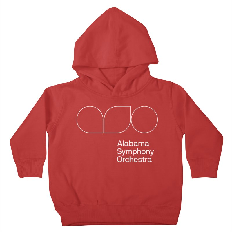 White Outline Kids Toddler Pullover Hoody by Alabama Symphony Orchestra Goods & Apparel