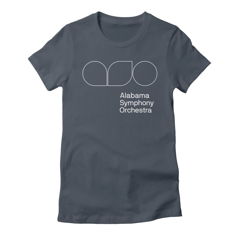 White Outline Women's T-Shirt by Alabama Symphony Orchestra Goods & Apparel