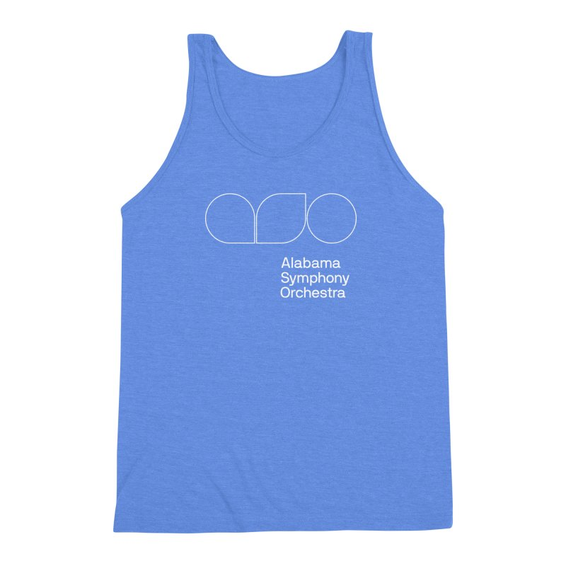 White Outline Men's Triblend Tank by Alabama Symphony Orchestra Goods & Apparel