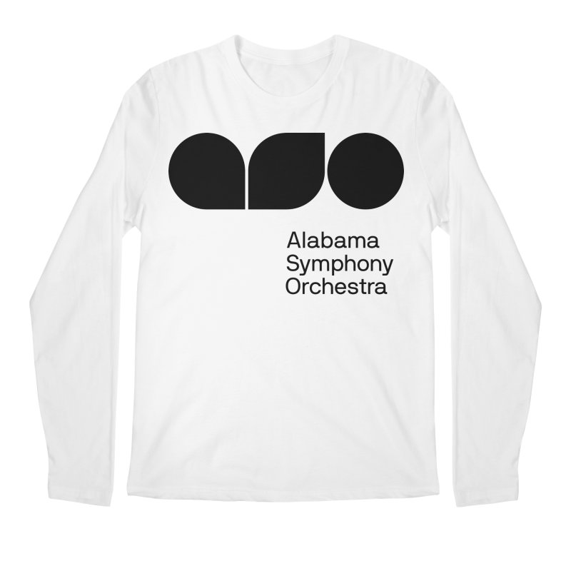 Solid Black Men's Longsleeve T-Shirt by Alabama Symphony Orchestra Goods & Apparel