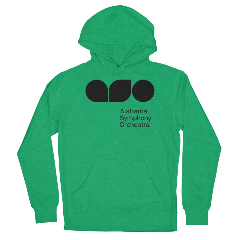 Solid Black Women's French Terry Pullover Hoody by Alabama Symphony Orchestra Goods & Apparel