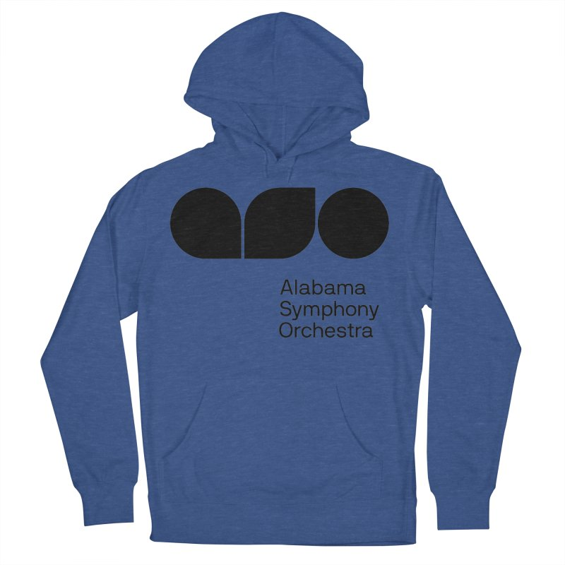 Solid Black Men's French Terry Pullover Hoody by Alabama Symphony Orchestra Goods & Apparel