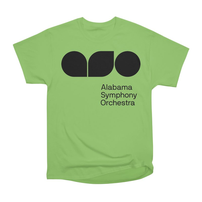 Solid Black Men's Heavyweight T-Shirt by Alabama Symphony Orchestra Goods & Apparel