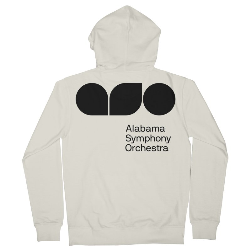 Solid Black Women's French Terry Zip-Up Hoody by Alabama Symphony Orchestra Goods & Apparel