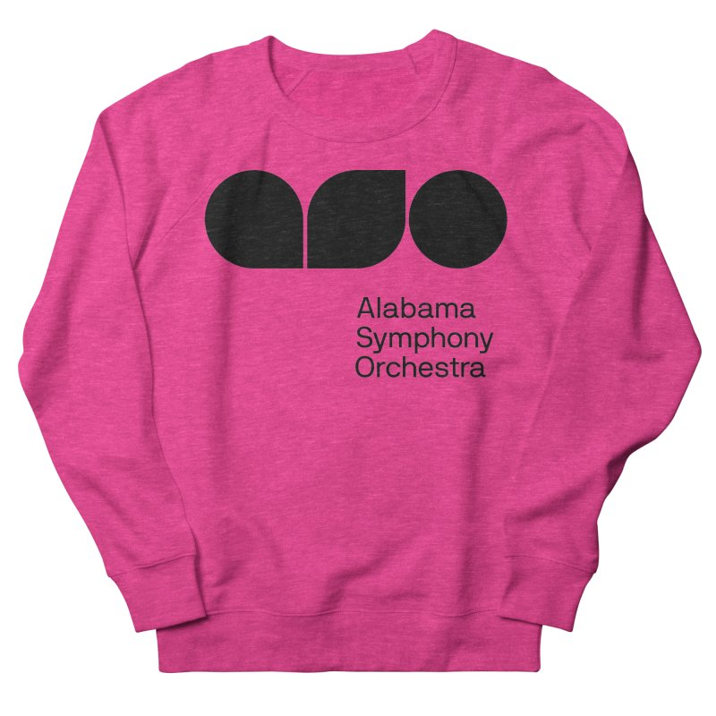 Solid Black Women's French Terry Sweatshirt by Alabama Symphony Orchestra Goods & Apparel