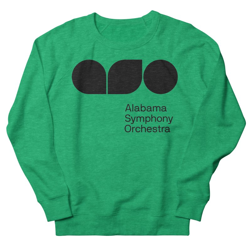 Solid Black Men's French Terry Sweatshirt by Alabama Symphony Orchestra Goods & Apparel