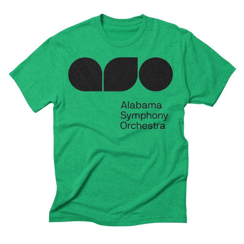 Solid Black Men's Triblend T-Shirt by Alabama Symphony Orchestra Goods & Apparel