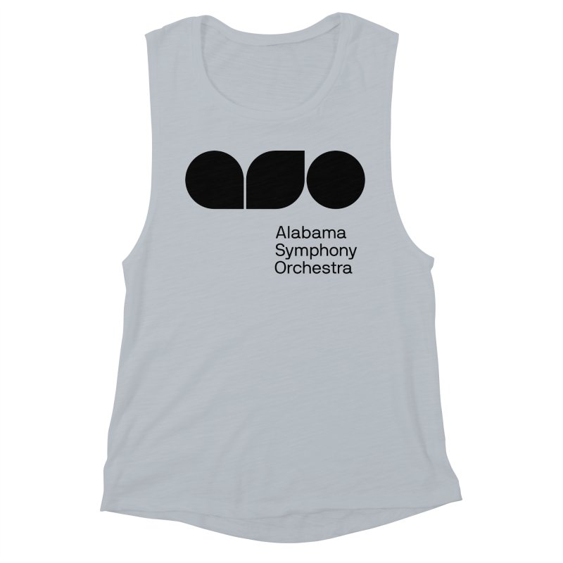 Solid Black Women's Muscle Tank by Alabama Symphony Orchestra Goods & Apparel