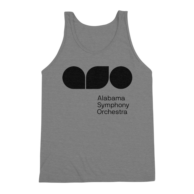 Solid Black Men's Tank by Alabama Symphony Orchestra Goods & Apparel