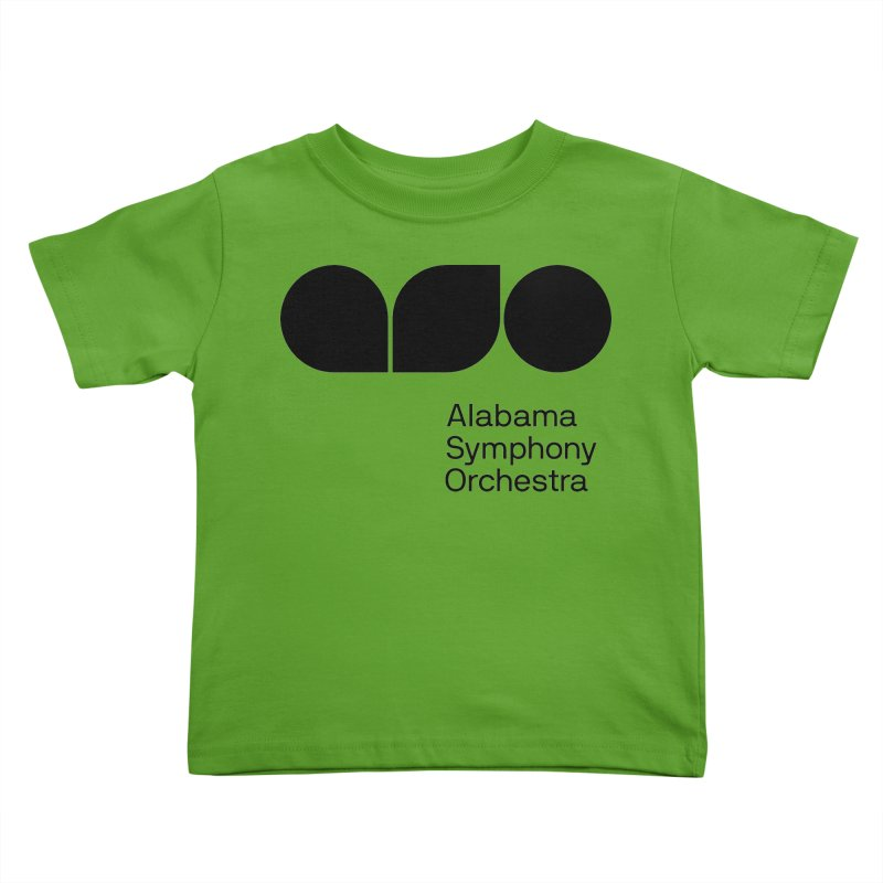 Solid Black Kids Toddler T-Shirt by Alabama Symphony Orchestra Goods & Apparel