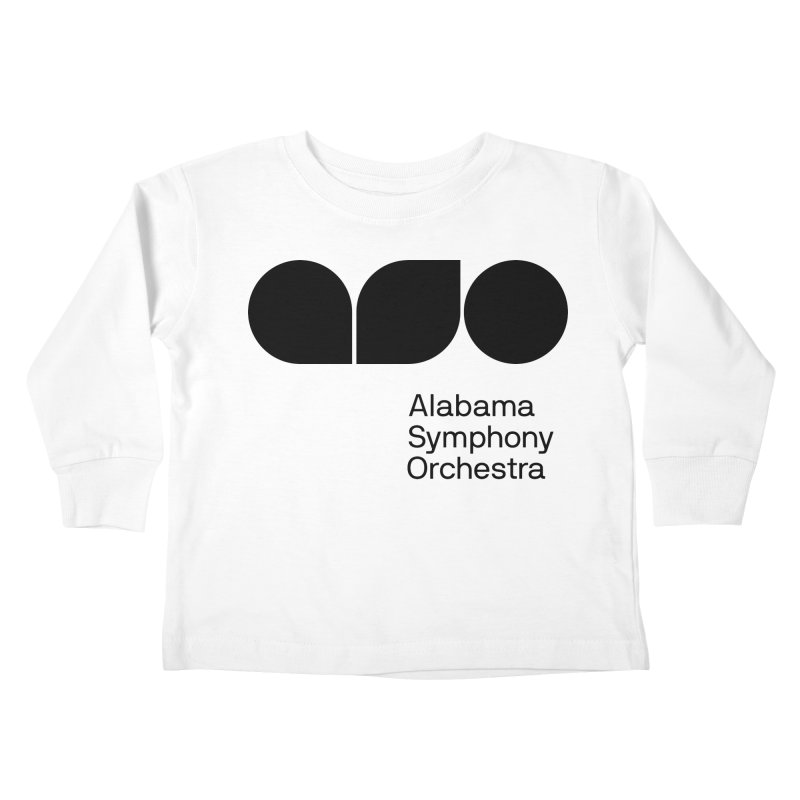 Solid Black Kids Toddler Longsleeve T-Shirt by Alabama Symphony Orchestra Goods & Apparel