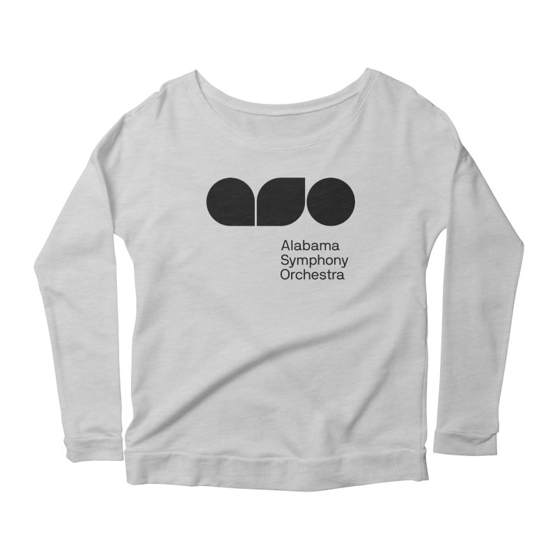 Solid Black Women's Scoop Neck Longsleeve T-Shirt by Alabama Symphony Orchestra Goods & Apparel