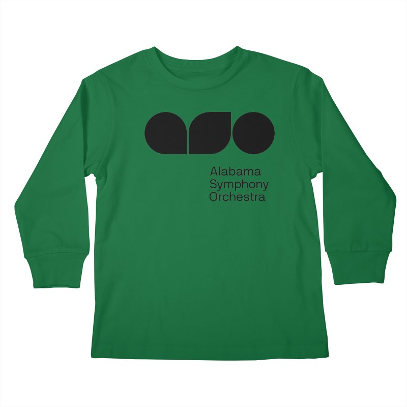 Solid Black Kids Longsleeve T-Shirt by Alabama Symphony Orchestra Goods & Apparel