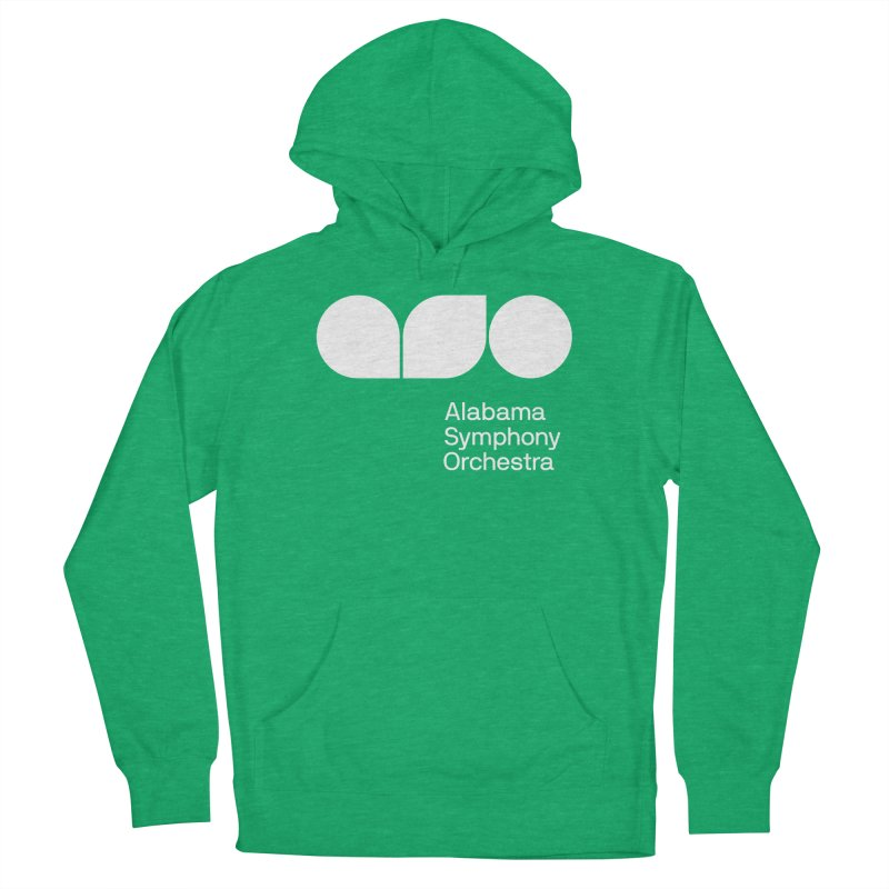Solid White Men's Pullover Hoody by Alabama Symphony Orchestra Goods & Apparel