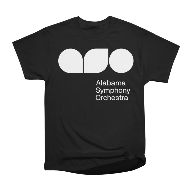 Solid White Men's Heavyweight T-Shirt by Alabama Symphony Orchestra Goods & Apparel