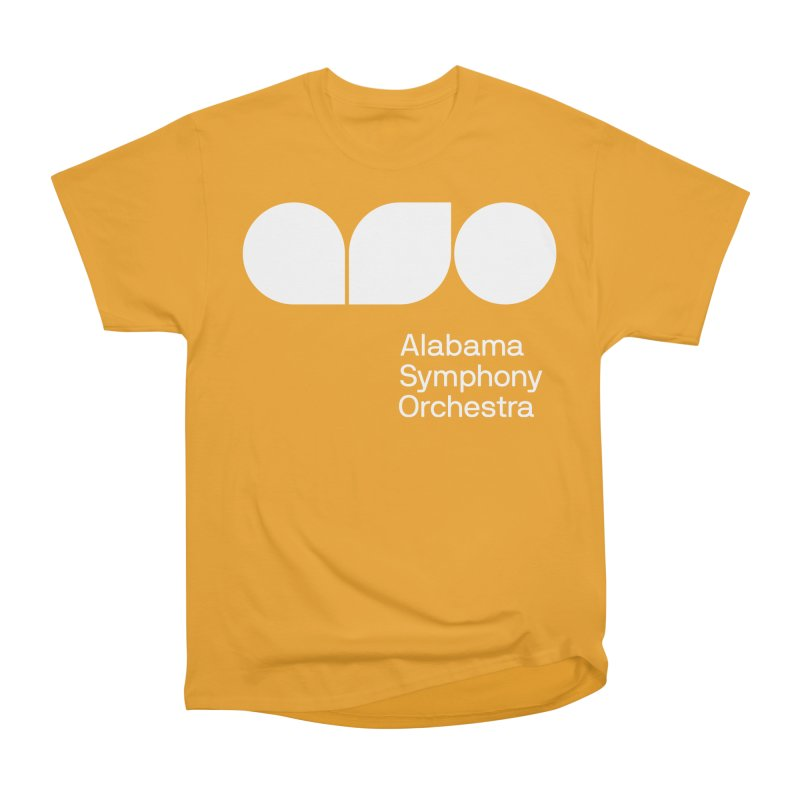 Solid White Men's Classic T-Shirt by Alabama Symphony Orchestra Goods & Apparel