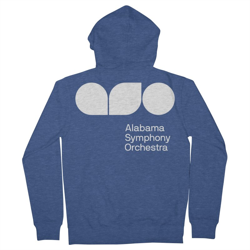 Solid White Women's Zip-Up Hoody by Alabama Symphony Orchestra Goods & Apparel
