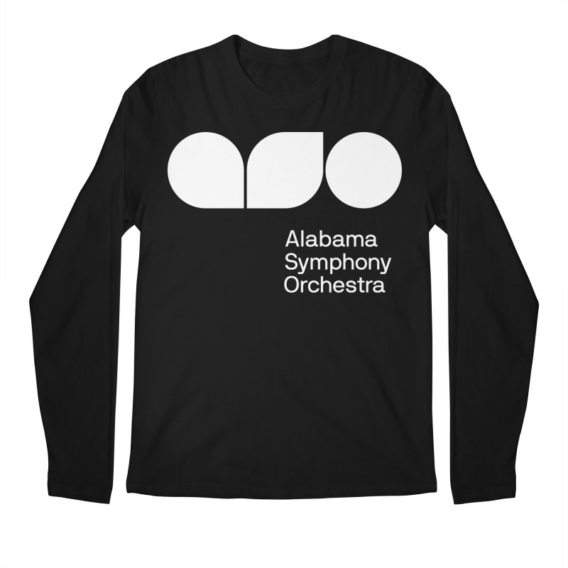 Solid White Men's Longsleeve T-Shirt by Alabama Symphony Orchestra Goods & Apparel
