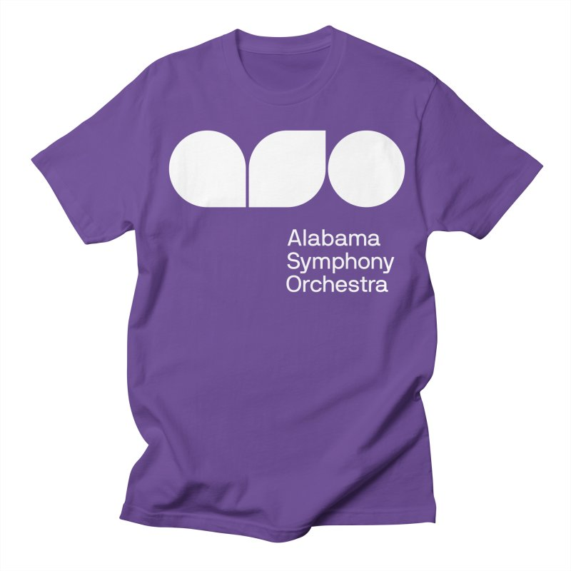Solid White Women's Regular Unisex T-Shirt by Alabama Symphony Orchestra Goods & Apparel
