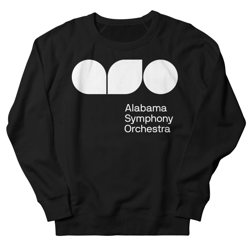 Solid White Men's French Terry Sweatshirt by Alabama Symphony Orchestra Goods & Apparel