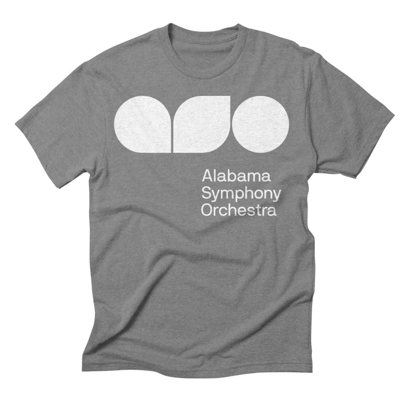 Solid White Men's Triblend T-Shirt by Alabama Symphony Orchestra Goods & Apparel