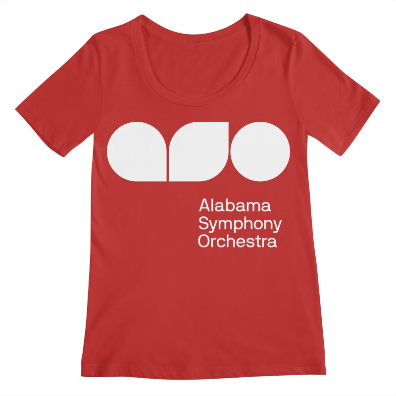 Solid White Women's Regular Scoop Neck by Alabama Symphony Orchestra Goods & Apparel