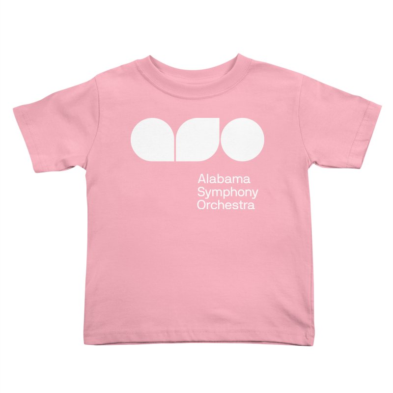 Solid White Kids Toddler T-Shirt by Alabama Symphony Orchestra Goods & Apparel