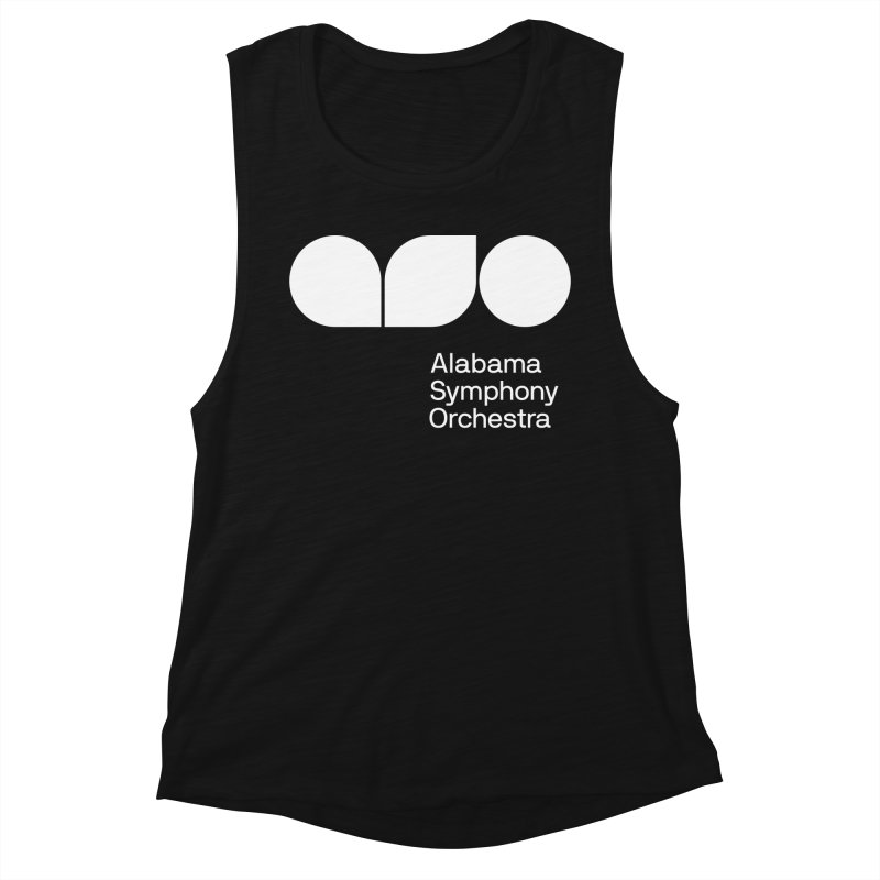 Solid White Women's Muscle Tank by Alabama Symphony Orchestra Goods & Apparel
