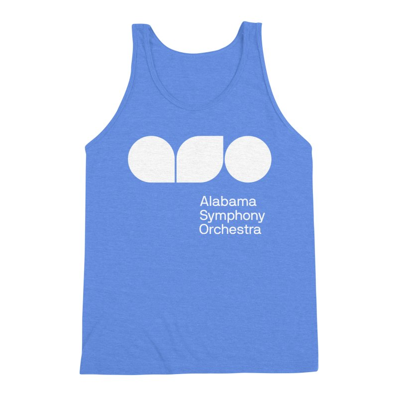 Solid White Men's Triblend Tank by Alabama Symphony Orchestra Goods & Apparel