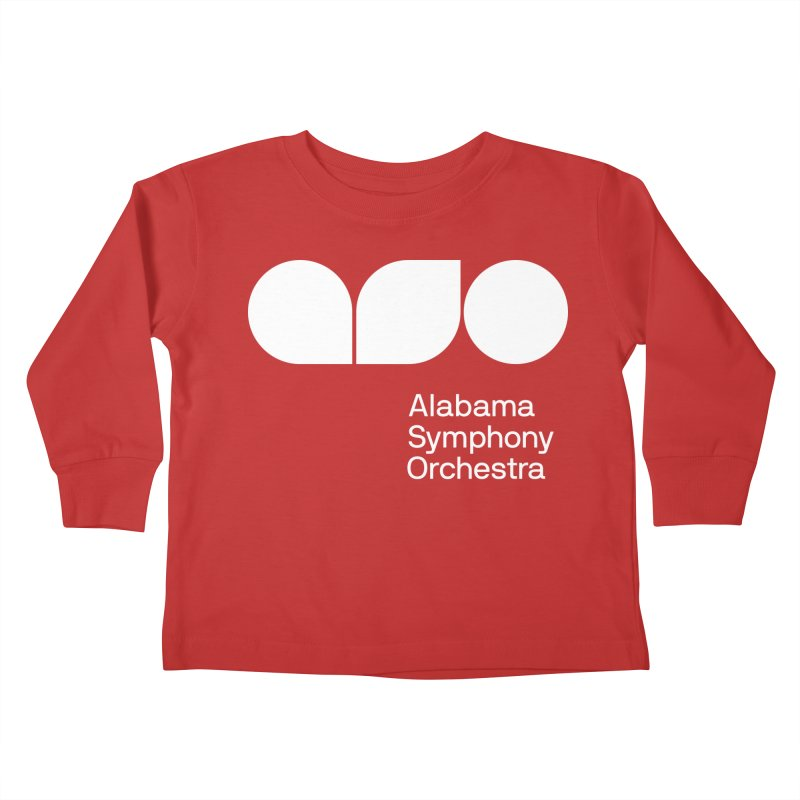 Solid White Kids Toddler Longsleeve T-Shirt by Alabama Symphony Orchestra Goods & Apparel