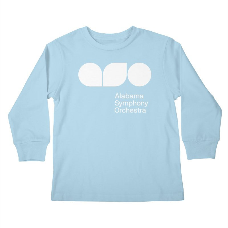 Solid White Kids Longsleeve T-Shirt by Alabama Symphony Orchestra Goods & Apparel