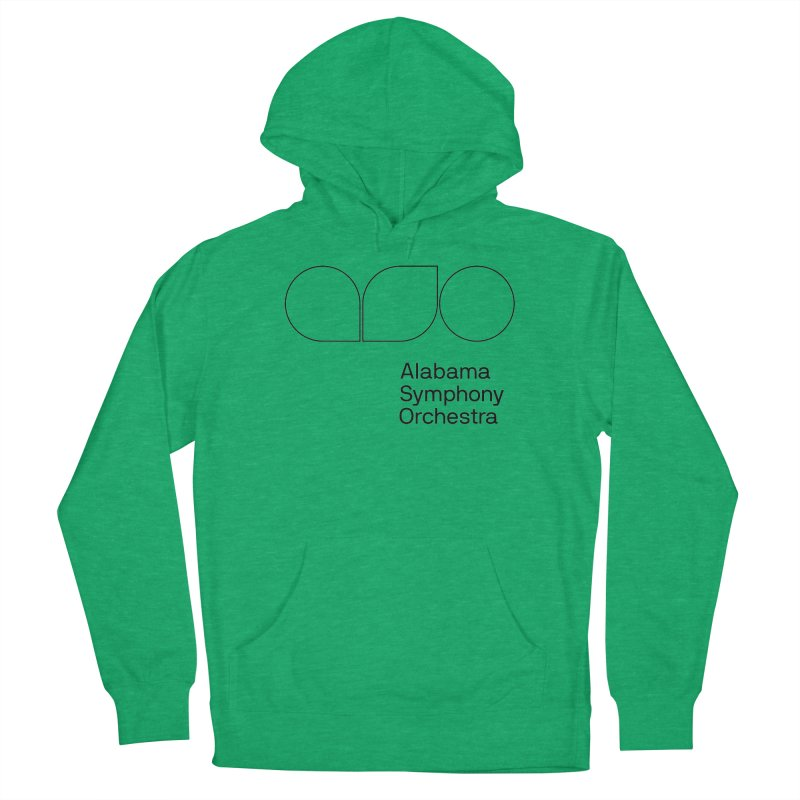 Black Outline Women's Pullover Hoody by Alabama Symphony Orchestra Goods & Apparel
