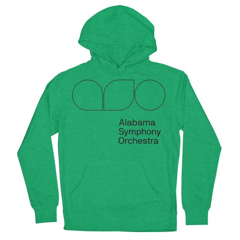 Black Outline Men's French Terry Pullover Hoody by Alabama Symphony Orchestra Goods & Apparel