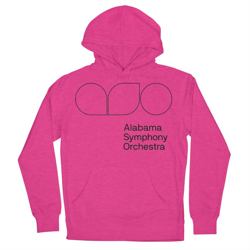 Black Outline Men's Pullover Hoody by Alabama Symphony Orchestra Goods & Apparel