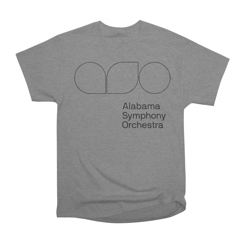 Black Outline Women's Heavyweight Unisex T-Shirt by Alabama Symphony Orchestra Goods & Apparel