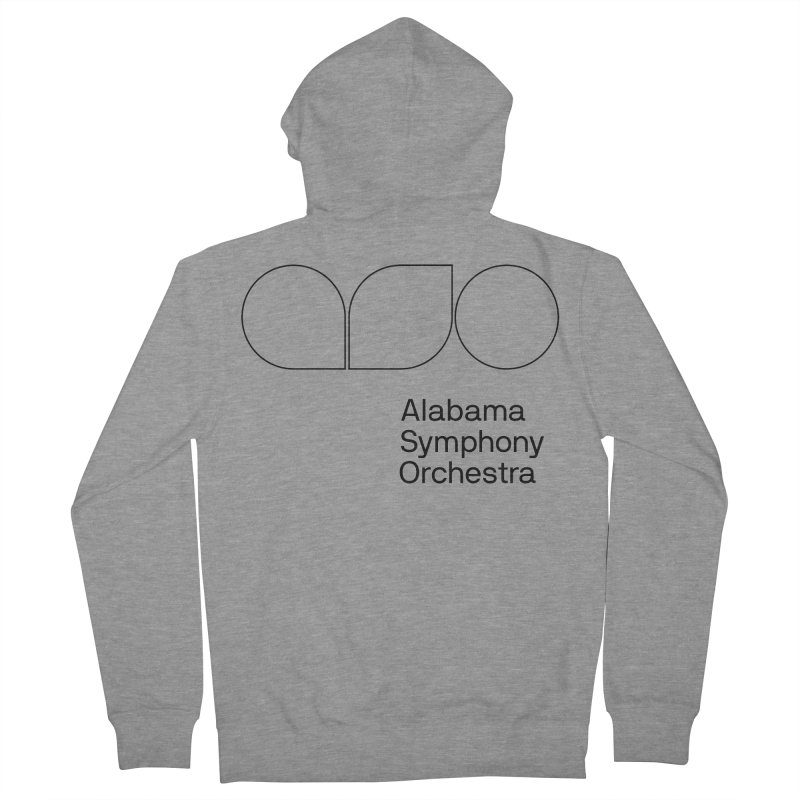 Black Outline Women's French Terry Zip-Up Hoody by Alabama Symphony Orchestra Goods & Apparel