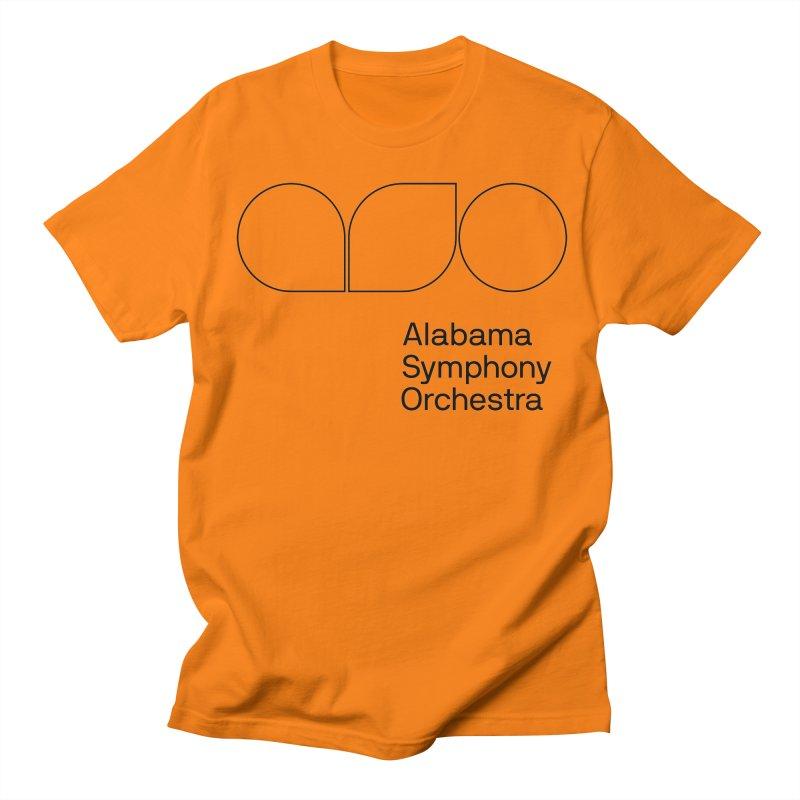 Black Outline Men's Regular T-Shirt by Alabama Symphony Orchestra Goods & Apparel