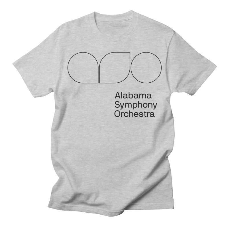 Black Outline Women's Regular Unisex T-Shirt by Alabama Symphony Orchestra Goods & Apparel