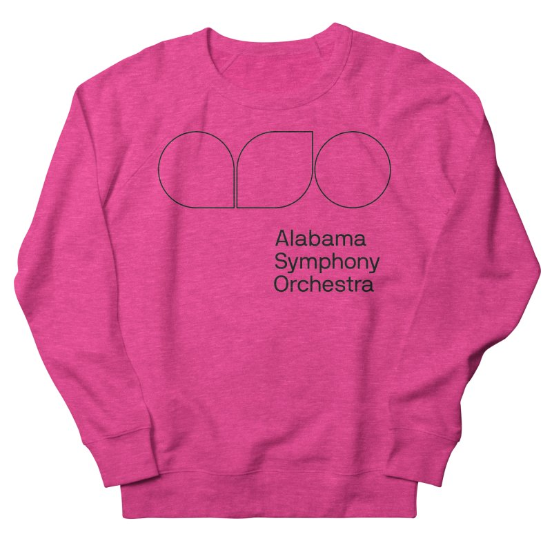 Black Outline Women's French Terry Sweatshirt by Alabama Symphony Orchestra Goods & Apparel