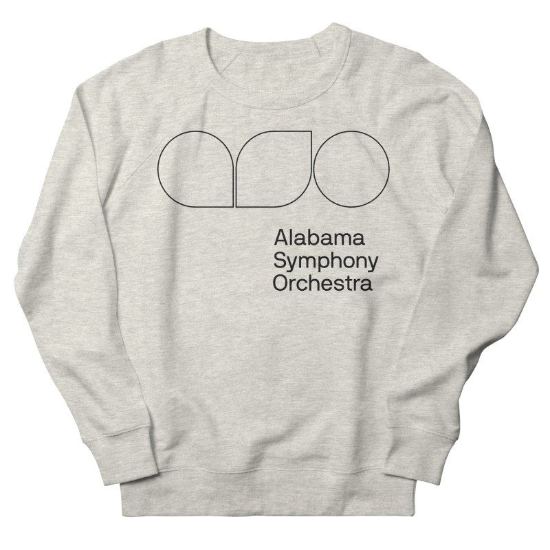 Black Outline Men's French Terry Sweatshirt by Alabama Symphony Orchestra Goods & Apparel
