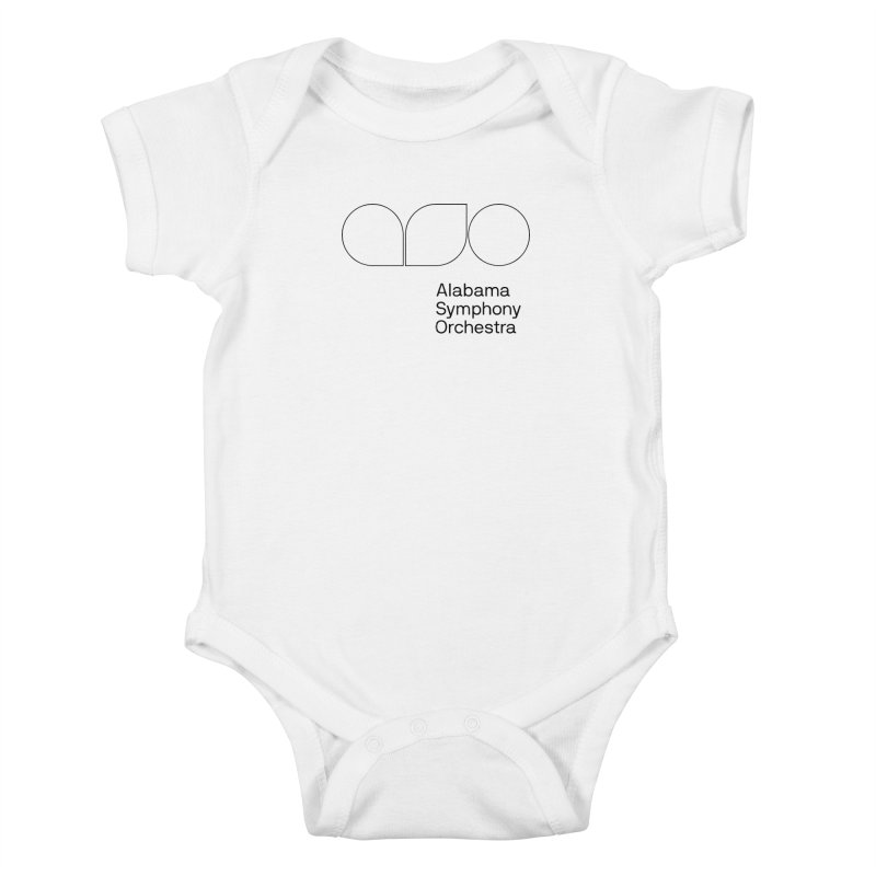 Black Outline Kids Baby Bodysuit by Alabama Symphony Orchestra Goods & Apparel
