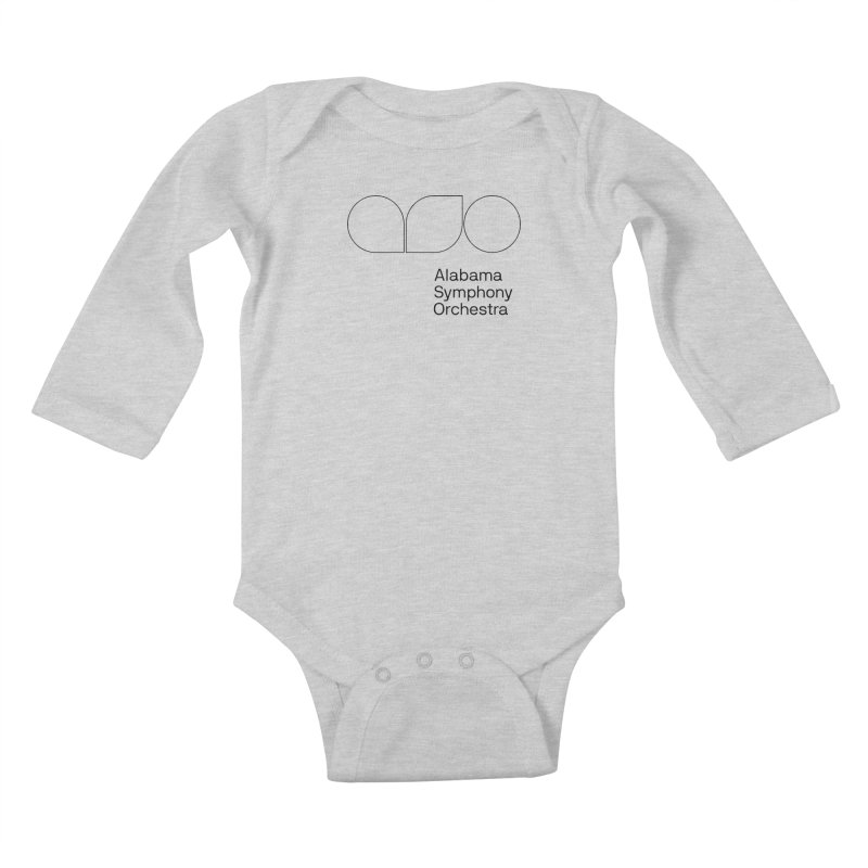 Black Outline Kids Baby Longsleeve Bodysuit by Alabama Symphony Orchestra Goods & Apparel
