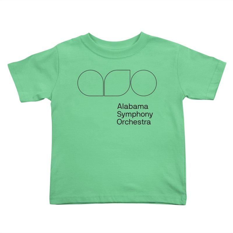 Black Outline Kids Toddler T-Shirt by Alabama Symphony Orchestra Goods & Apparel