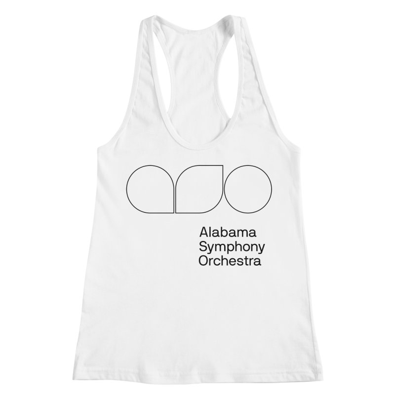 Black Outline Women's Racerback Tank by Alabama Symphony Orchestra Goods & Apparel